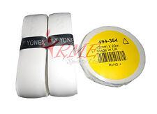 Tennis, Squash, Badminton 2 Yonex White Grip / Grap & Racket Neck Finishing Tape