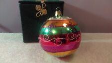 Christmas ornament glass ball Pier 1 snowflake design