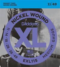 D'Addario EXL115 Electric Guitar Strings Nickel 11-49 Medium
