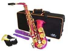 ALTO SAXOPHONE  Sax - PINK & GOLD,   Ready to Play,  Non Stick Pads NEW