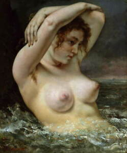Gustave Courbet Nude 2 Poster Reproduction Paintings Giclee Canvas Print