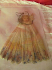 Antique Spun Cotton Tinsel Angel Christmas Ornament Wall Decoration