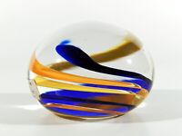 DANSK Glas Kunst BRIEFBESCHWERER ° denmark art glass paperweight