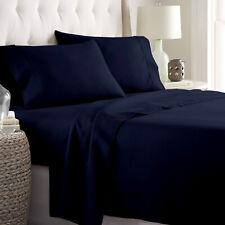 Navy Blue Solid Bedding Item 100% Cotton Super Deep Pocket 800 Thread Count