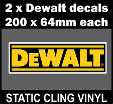 2 DeWALT static cling Decals rally race car windows subaru vw ford dub dewalt