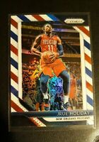 2018 Panini Prizm JRUE HOLIDAY Red/White/Blue Parallel Refractor Card No.137