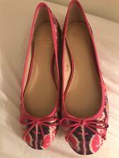 Saks Fifth Avenue 10022-SHOE Loralai Canvas Ballet Flats 7 1/2 M  $195   NWT