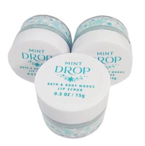 3 Bath & Body Works MINT DROP Lip Scrub/Lip Gloss .5oz New SEALED Free Shipping
