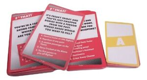 Party Card Game Question & Answer Fun for Friends Icebreaker F* That Forget That