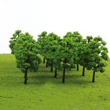 20 Model Trees Train Railroad Diorama Wargame Park Scenery Plants Decor Green