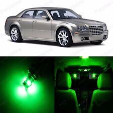 14 x Green LED Interior Light Package For 2005 - 2010 Chrysler 300 300C + TOOL
