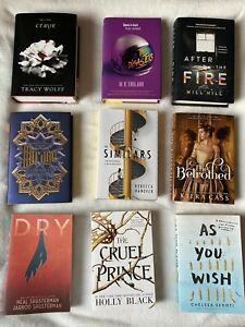 9 ASSORTED NEW YA BOOKS! See Description! Owlcrate,Fairyloot,Illumicrate,Litjoy