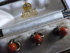"More details for antique ""asprey"" coral & gold studs."