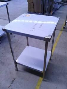 STAINLESS STEEL BENCH- 600x600x900-GRADE304 FULLY STAINLESS LEGS, SHELF & FRAME