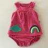 Carters Newborn 3 6 Months Baby Girl Pink Sunsuit Bodysuit Dress Clothes
