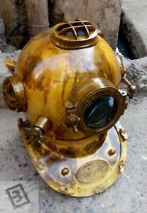 "Mark V Divers Diving Helmet 18"" Marine Maritime Divers U.S Navy Antique Deep Sea"