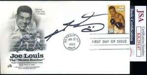 Sugar Ray Leonard JSA Coa  Signed 1993 FDC Cache Autograph