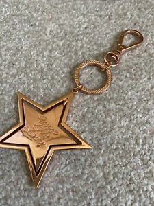 Ted Baker Rose Gold Keyring/Bag Charm NEW Star Rotates