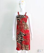 Robe de plage bustier smocks légère taille M (38-40) neuve - rouge imprimé