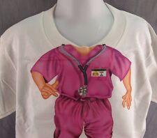 Nurse Doctor Girls T-Shirt Youth Small 6-8 YS Pink Hospital NEW Tee Add-a-Head
