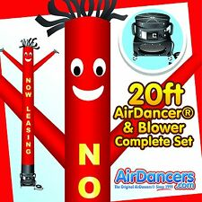 Red & Yellow Now Leasing Air Dancer ® & Blower 20ft Full Sky Dancer Set