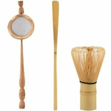 Natural Bamboo Tea Utensils Set Strainer Matcha Whisk Brush Scoop Kitchen Tools