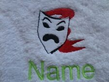 THEATRE MASK design Embroidered on a Adult Robe with Personalised Name