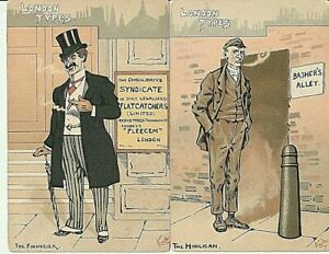 Two PPC LONDON TYPES by KYD - The Financier, The Hooligan