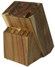 15 Slot Wooden Universal Kitchen Knife Holder-Acacia Wood Universal Knife Block