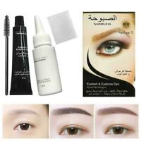 Professional Eyelash Eyebrow Dye Tint Gel Eye Brow Cream Mascara Mank Women P1R2