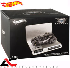 "HOTWHEELS BCJ99 1:18 ELITE ""THE DARK KNIGHT"" TRILOGY BATMOBILE W/BATMAN CAPE"