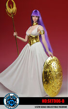 SUPER DUCK COSPLAY Saint Seiya Athena Clothing & Head Set B 1/6 Fit Phicen Body