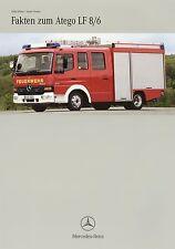 Prospekt 2002 Mercedes Atego LF 8/6 Feuerwehr 8 02 brochure fire truck brosjyre