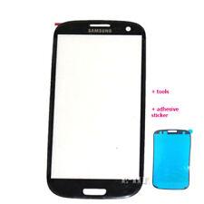 Samsung Galaxy S3 III i9300 i9305 Cristal Exterior Frontal Pantalla de Recambio S3 Negro