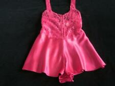 Vintage Victoria's Secret Satin Cami-Knickers Teddy Sheer Lace Bodice M/L NEW