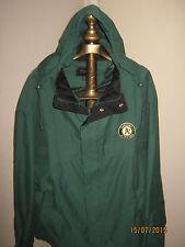 """Oakland Athletics Jacket (LIGHT) w/ Hood XL Green&Black """"G-III"""" ZIP&Snap + Cap"""