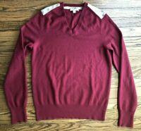 Burberry Brit Mens Long Sleeve Shoulder Nova Cashmere Check Sweater Size Small