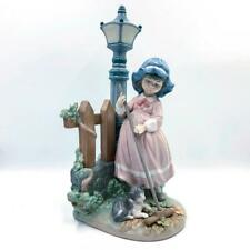 "Vintage Retired Lladro Porcelain Figurine # 5286, ""Fall Clean-Up"", 1985."
