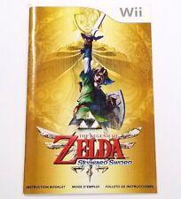 The Legend of Zelda Skyward Sword for Wii Instruction Manual Booklet ONLY!!