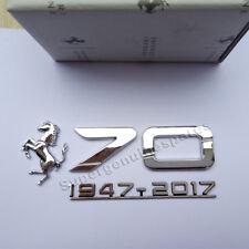 Genuine Ferrari 70th Anniversary LH & RH Side Emblem Badge Chrome Brand New