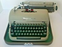 Vintage Remington Rand Quiet Riter Portable Typewriter 1950's w/Case AND Key