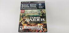 Uncharted, Tomb Raider, & Mercenaries 2 - Esa Foundation 3pack (Playstation 3)