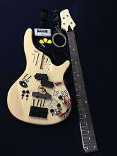 No-Solder EB-302DIY Solid body Electric Bass Guitar DIY Kits+Picks,Digital Tuner
