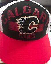 Calgary Flames, Hat, NHL Fan Gear, Adult,  Mens Adjustable, Reebok Faceoff one s