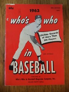 1963 WHO'S WHO IN BASEBALL 48TH EDITION DON DRYSDALE LOS ANGELES DODGERS