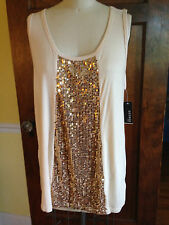 George 16 Sequinned Ivory Tank Top