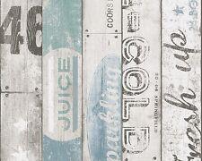 Kindertapete Holz-Optik Boys & Girls weiß blau 95950-3 (1,77€/1qm)