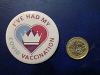 SUPPORT NHS JAB BADGES> 50% of sales goes TO NHS CHARITIES DIRECT VIA EBAY