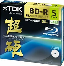 5 x TDK Blu-ray BD-R Disk for PC Data | Super Hard Coating Surface | 50GB (DL)