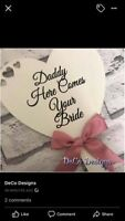 Personalised Handheld Wedding Sign Paddle For Flower Girls Page Boys